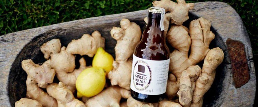 Ginger Mania Zázvorové pivo spojenie sviežeho citróna a štiplavého zázvoru