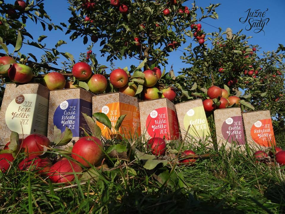 Južné Sady jablková šťava z vlastných sadov na Južnom Slovensku