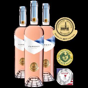 Farsky pekné víno CABERNET SAUVIGNON, jemne ružová farba PACHO MATRTAJ Z HYBE