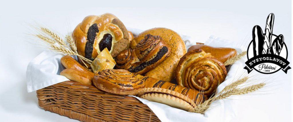Pekáreň Kvetoslavov Sortiment pekárne chlieb, pečivo, bagety, pletenky