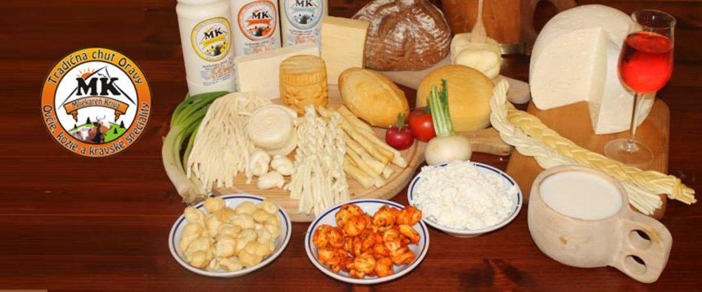 Mliekareň Krivá Orava, Prírodné a parené syry a krásne syrové torty