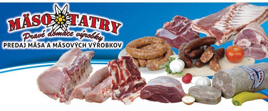 Mäso Tatry pravé domáce výrobky, predaj mäsa a mäsových výrobkov