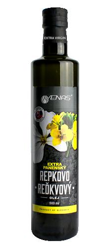 Olej Života - Extra panenský Repkovo-reďkvový olej, Extra panenský Repkový olej.
