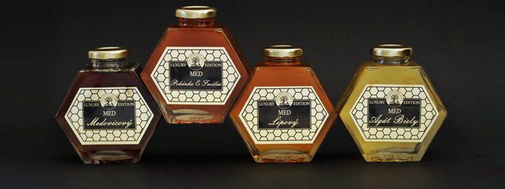 Ochutené medy - Pastorekove sady, Med agátový, Včelí peľ, Propolisová tinktúra